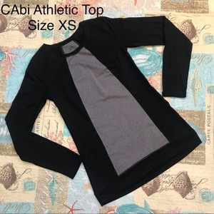 CAbi Black & Gray Compression Long Sleeve Shirt XS